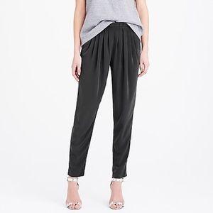J Crew Pull-On Stretch Waist Satin Trouser Pants
